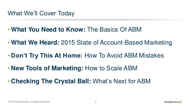 Account-Based Marketing: Welcome to the New Reality inB2B Slide 3