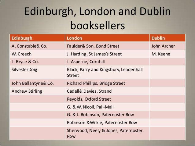 Edinburgh, London and Dublin              booksellersEdinburgh              London                                   Dubli...