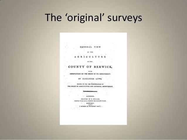 The 'original' surveys