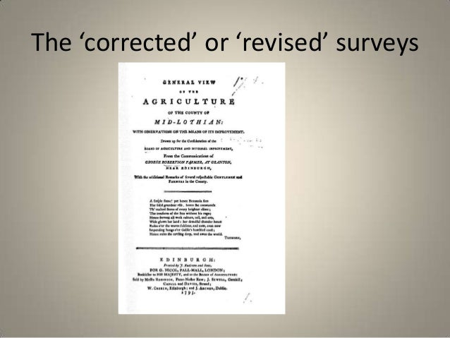 The 'corrected' or 'revised' surveys