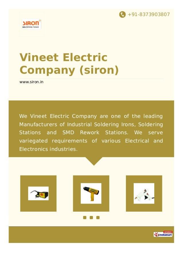 +91-8373903807 Vineet Electric Company (siron) www.siron.in We Vineet Electric Company are one of the leading Manufacturer...