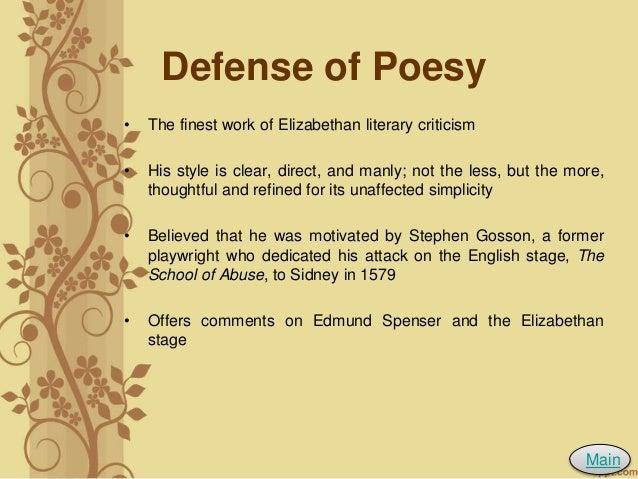 sidney defense of poesy