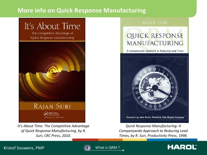 Reduction of lead time by quick response manufacturing qrm