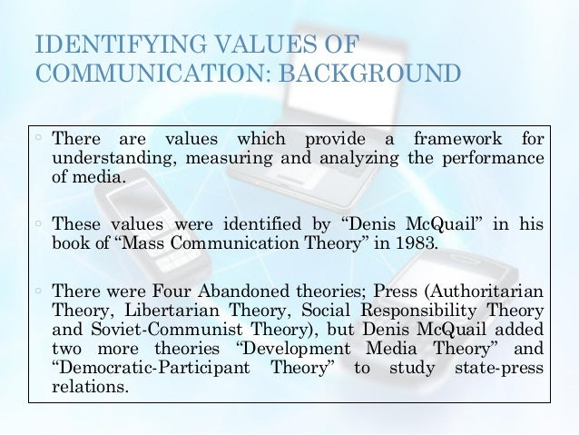 the democratic participant media theory Media dependency theory spiral of silence audience centered theories of communications the social responsibility theory the revolutionary theory - soviet communist theory the democratic-participant media theory the development concept of the press paradigms in communication old.