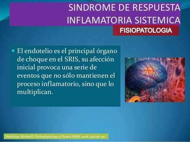  El endotelio es el principal órganode choque en el SRIS, su afeccióninicial provoca una serie deeventos que no sólo mant...