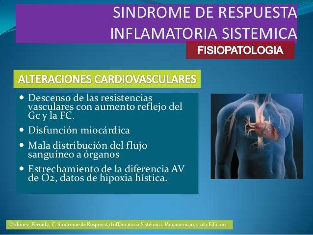  Descenso de las resistenciasvasculares con aumento reflejo delGc y la FC. Disfunción miocárdica Mala distribución del ...