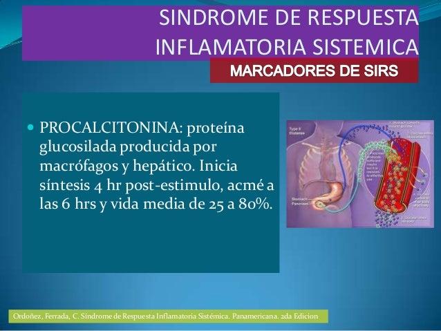  PROCALCITONINA: proteínaglucosilada producida pormacrófagos y hepático. Iniciasíntesis 4 hr post-estimulo, acmé alas 6 h...