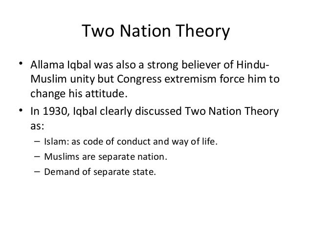 Two nation theory essay