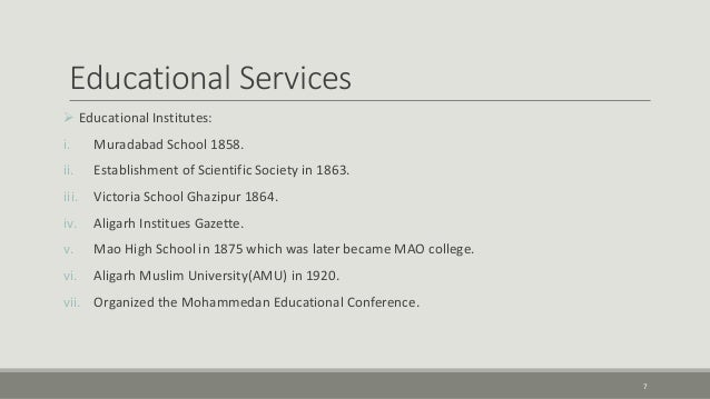 Educational Services Of Sir Syed Ahmed Khan Pdf