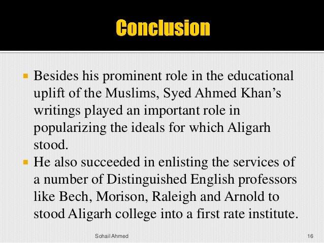 Political services of sir syed ahmad khan
