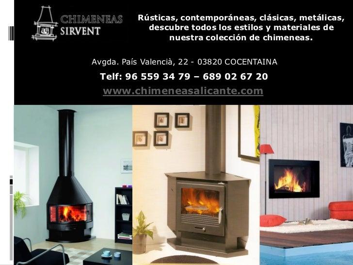 Estufas y chimeneas modernas en alicante alcoy cocentaina - Chimeneas elche ...