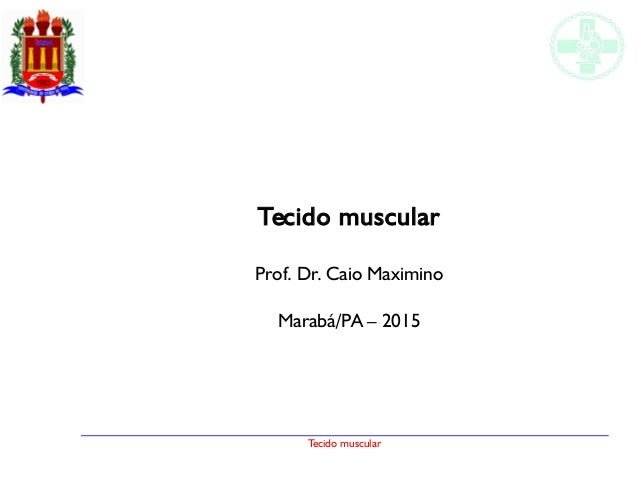 Tecido muscular Tecido muscular Prof. Dr. Caio Maximino Marabá/PA – 2015