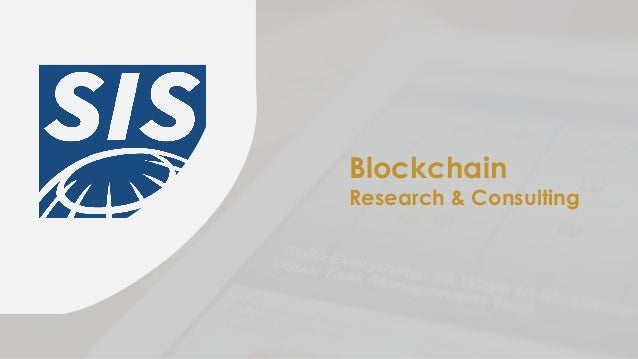 Blockchain Research & Consulting