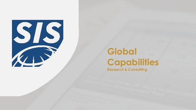 Global Capabilities Research & Consulting