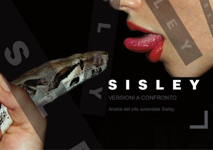 VERSIONI A CONFRONTOAnalisi del sito aziendale Sisley