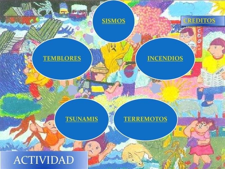 SISMOS                CREDITOS    TEMBLORES                 INCENDIOS         TSUNAMIS        TERREMOTOSACTIVIDAD