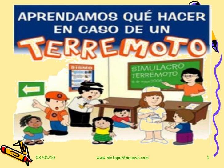 Sismos Y Terremotos Para Niños