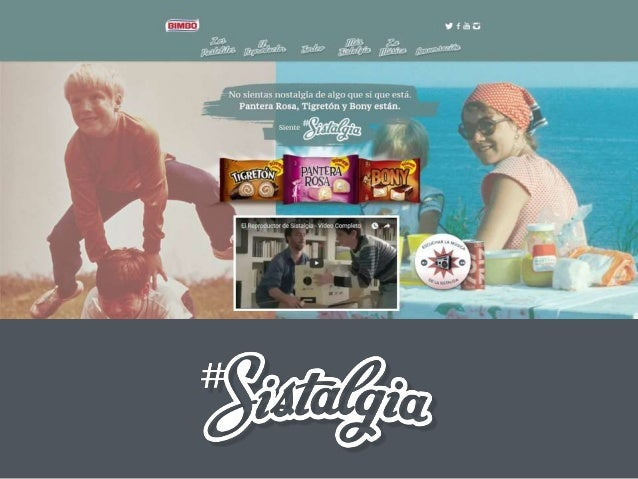 Sistalgia campaign from big multinational brand BIMBO Airtouch had the pleasure to develop the website Sistalgia.es for th...