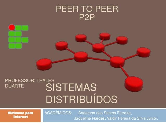 SISTEMAS  DISTRIBUÍDOS  ACADÊMICOS: Anderson dos Santos Ferreira,  Jaqueline Nardes, Valdir Pereira da Silva Junior.  Sist...