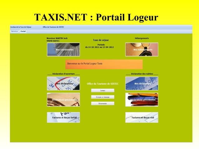 TAXIS.NET : Portail Logeur