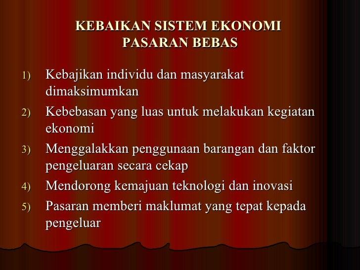 Sistem Ekonomi Pasaran Bebas 2009