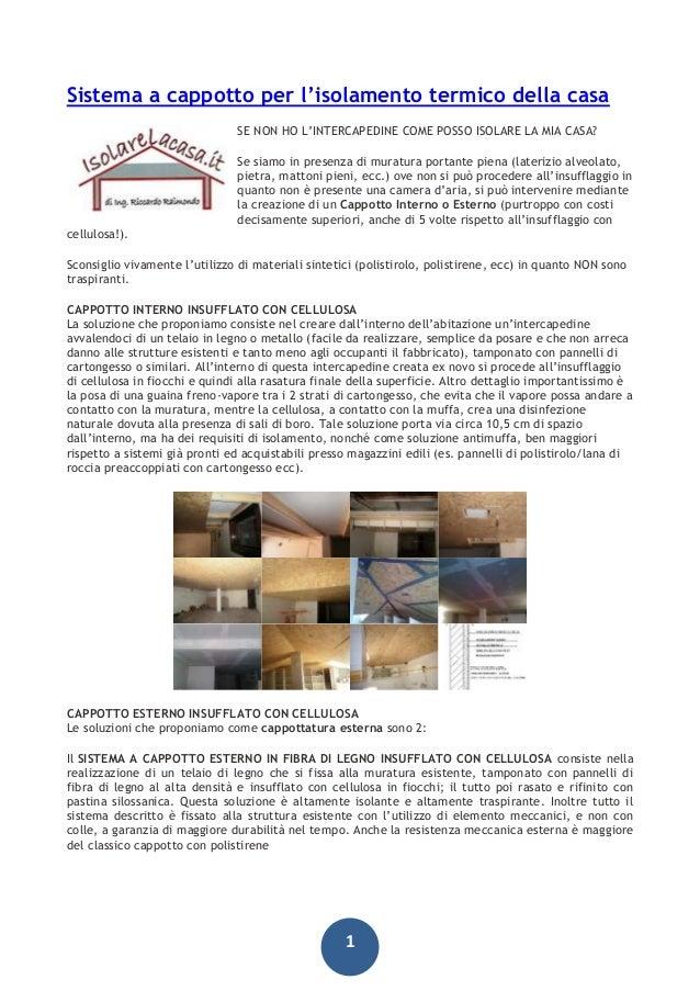 Sistema a cappotto isolamento termico casa - Sistema cappotto interno ...