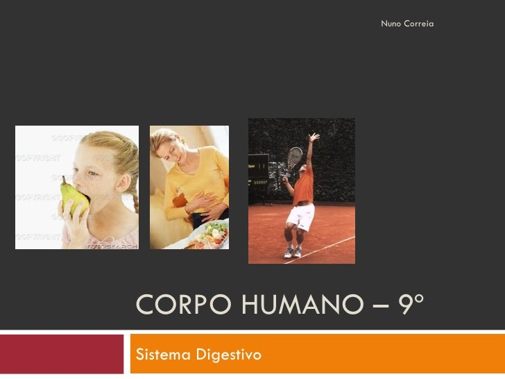 Nuno Correia     CORPO HUMANO – 9º Sistema Digestivo