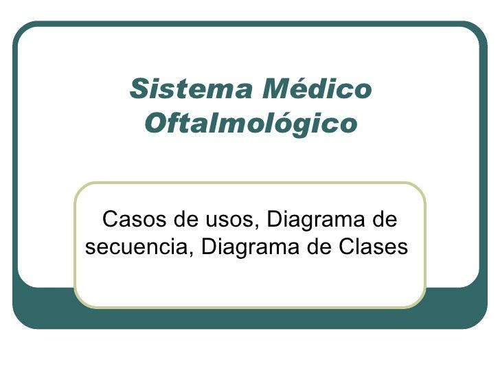 Sistema Médico Oftalmológico Casos de usos, Diagrama de secuencia, Diagrama de Clases