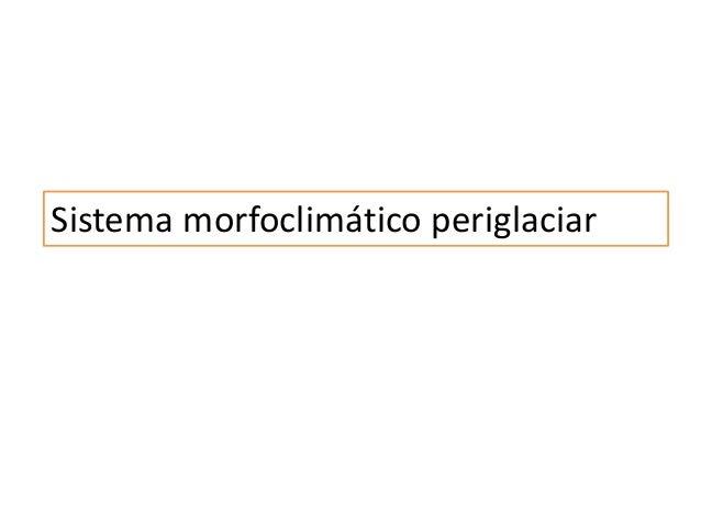 Sistema morfoclimático periglaciar