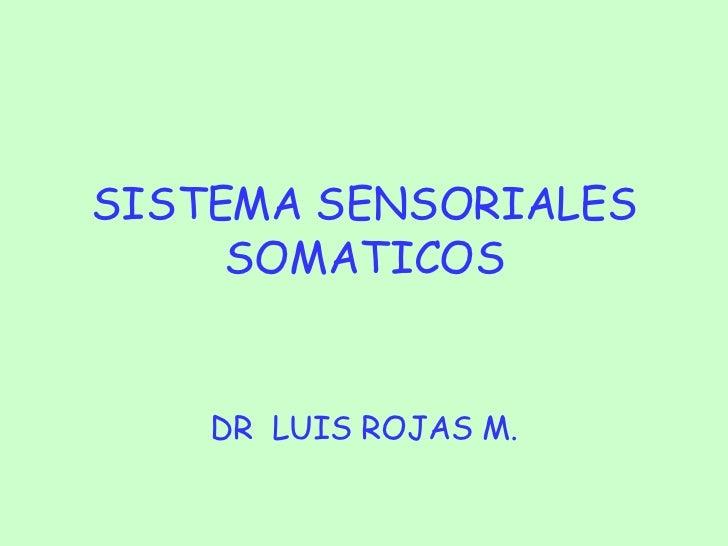 SISTEMA SENSORIALES SOMATICOS DR  LUIS ROJAS M.