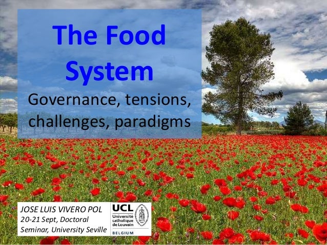The Food System Governance, tensions, challenges, paradigms JOSE LUIS VIVERO POL 20-21 Sept, Doctoral Seminar, University ...