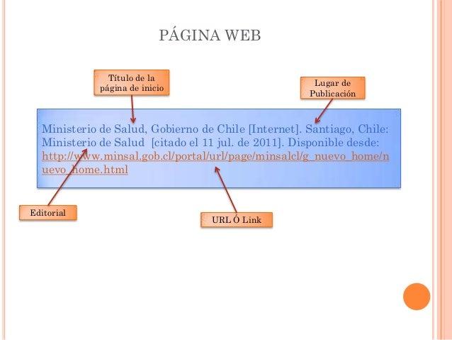 Citar una pagina web online