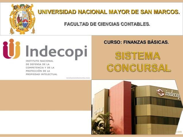 UNIVERSIDAD NACIONAL MAYOR DE SAN MARCOS.UNIVERSIDAD NACIONAL MAYOR DE SAN MARCOS. FACULTAD DE CIENCIAS CONTABLES.FACULTAD...