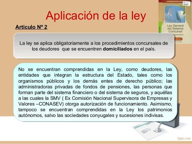Información de los procedimientos concursales Artículo Nº 10 Carácter de declaración jurada de la información presentada A...