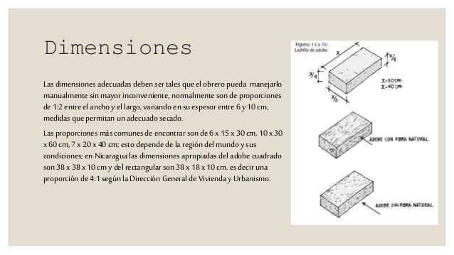 Sistema constructivo adobe - Medidas de ladrillos comunes ...