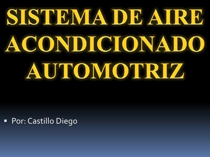 Tipos de sistema de aire acondicionado automotriz