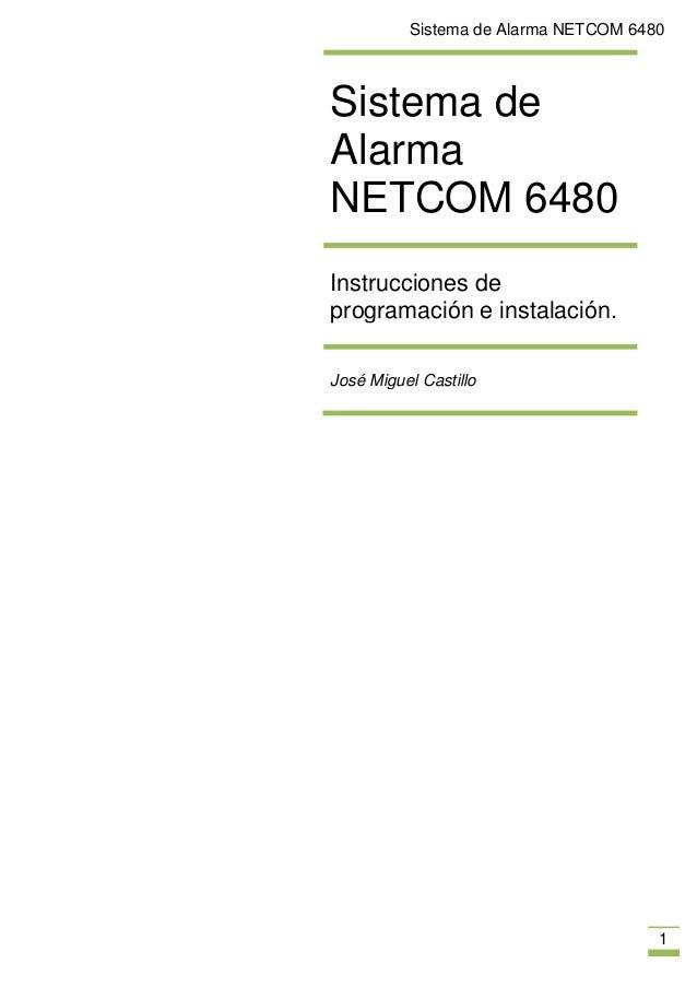 Sistema de alarma netcom 6480 for Sistema de alarma