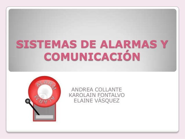 Sistema de alarmas y equipos de comunicaci n - Sistemas de alarma ...