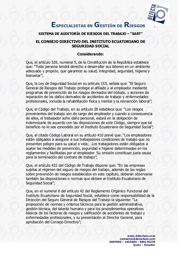 ESPECIALISTAS EN GESTIÓN DE RIESGOS                                    .        SISTEMA DE AUDITORÍA DE RIESGOS DEL TRABAJ...