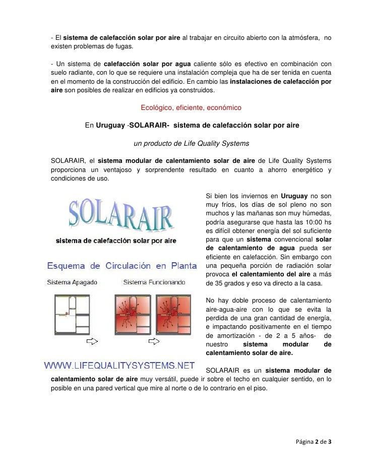 Sistema de calefacci n solar por aire uruguay - Sistemas de calefaccion ...