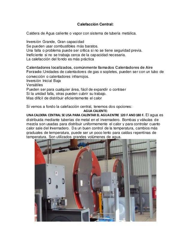 Sistema de calefaccion en invernadero - Sistema de calefaccion central ...