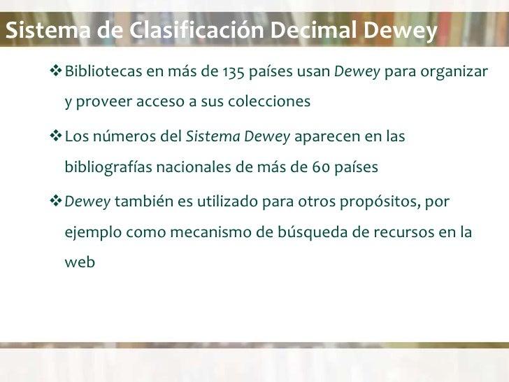 Sistema De Clasificaci 243 N Decimal Dewey