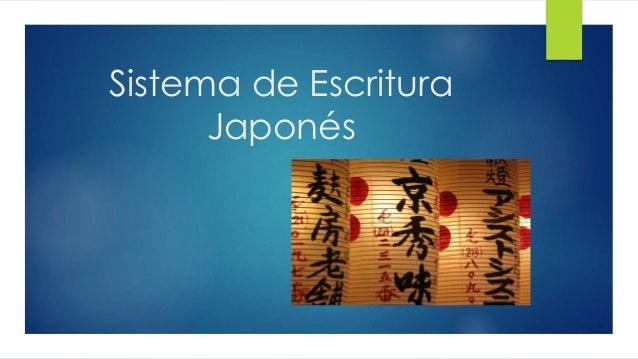 Sistema de Escritura Japonés