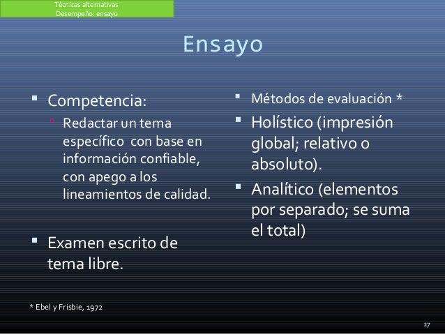 Ensayo  Competencia:  Redactar un tema específico con base en información confiable, con apego a los lineamientos de cal...