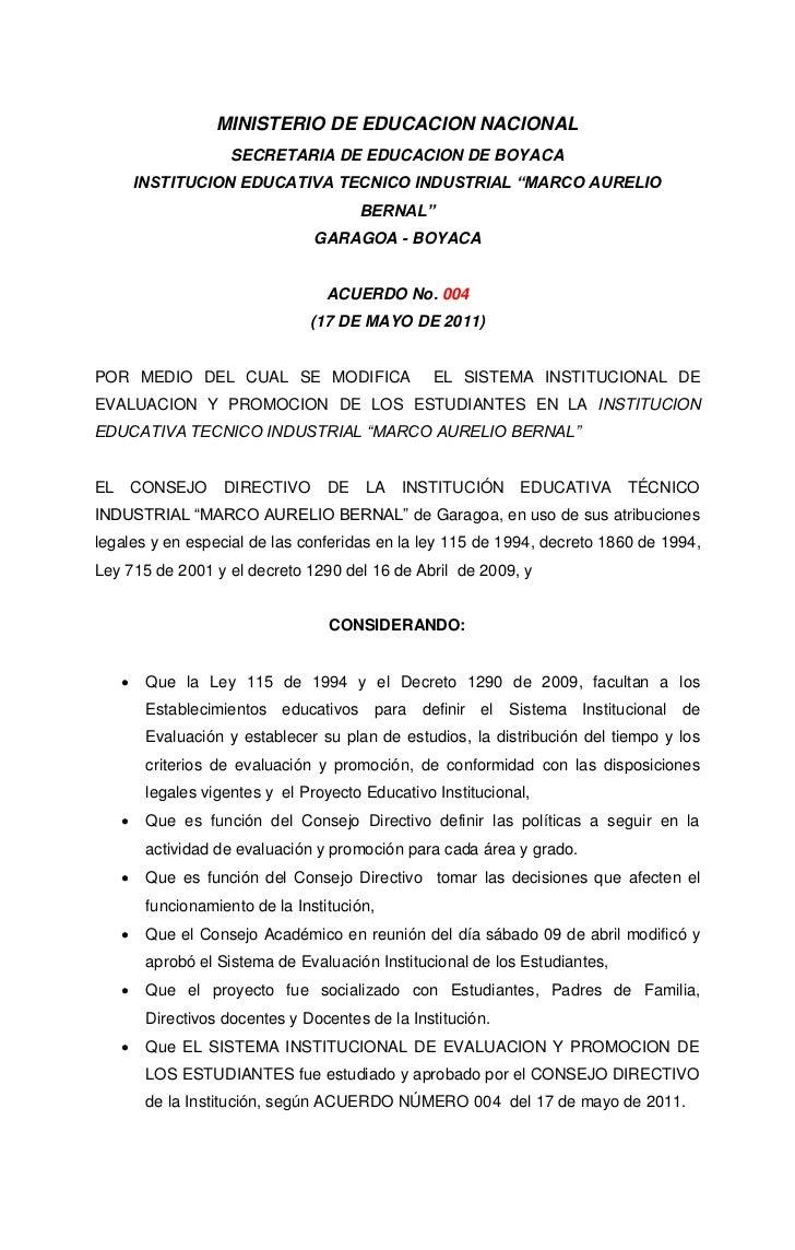 MINISTERIO DE EDUCACION NACIONAL                      SECRETARIA DE EDUCACION DE BOYACA         INSTITUCION EDUCATIVA TECN...