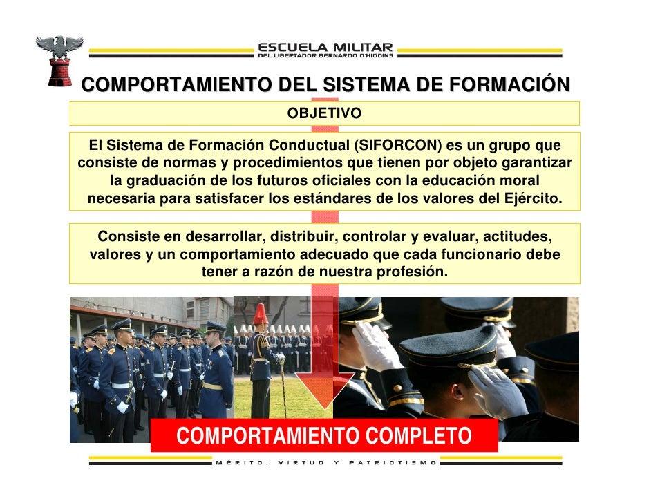 SISTEMA DE FORMACIÓN CONDUCTUAL El Sistema de Formación Conductual (SIFORCON) es un conjunto de normas y procedimientos cu...