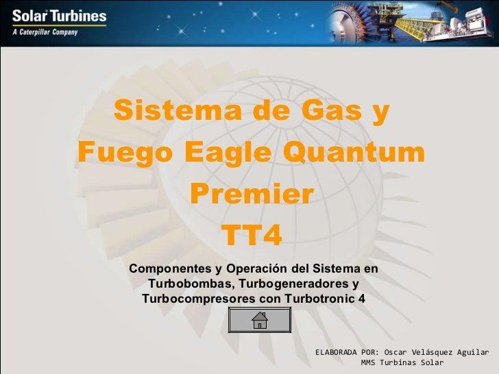 Sistema de Gas y Fuego Eagle Quantum Premier TT4 Componentes y Operación del Sistema en Turbobombas, Turbogeneradores y Tu...