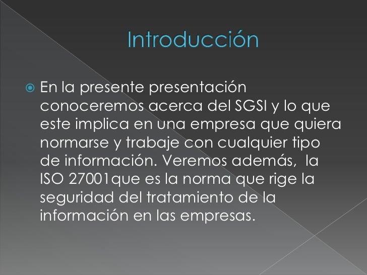Sistema de gestión de Seguridad Informatica  Slide 2