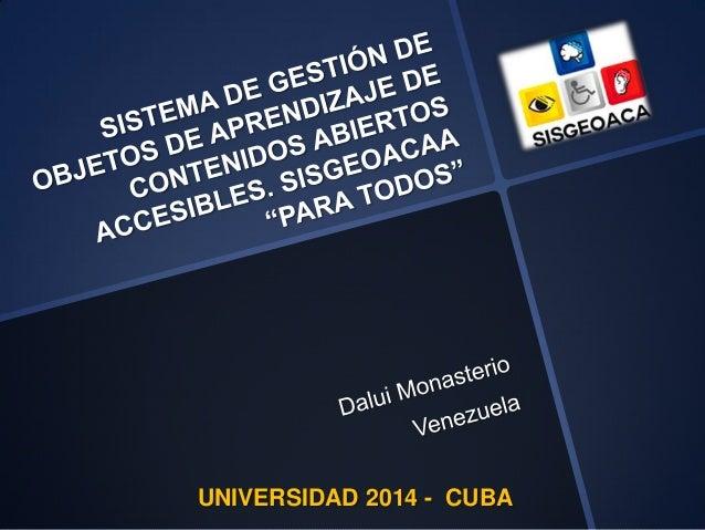UNIVERSIDAD 2014 - CUBA