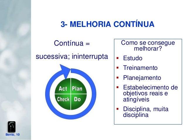 3- MELHORIA CONTÍNUA                 Contínua =            Como se consegue                                          melho...